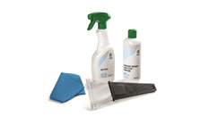 Winter kit of car care products