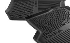 Rear rubber foot mats FABIA III