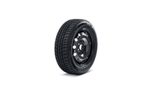 "Complete 14"" steel wheel with winter tyre for RAPID, FABIA III DOT 2018"