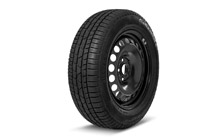 "Complete 16"" steel wheel with winter tyre for SUPERB III"