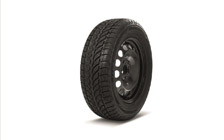 "Complete 16"" steel wheel with winter tyre KAROQ"
