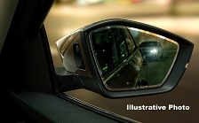 Auto dimming pasenger mirror