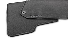 Set of rubber carpets for FABIA II